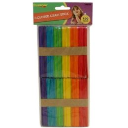 96 of 100pc Colored Craft Sticks(size:114*10*2