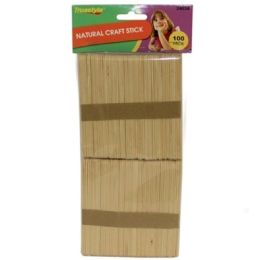 96 of 100pc Natural Craft Sticks (size:114*10*