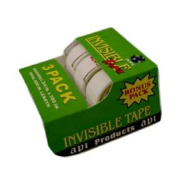144 of 3pack Tape Invisible .75in X 300in