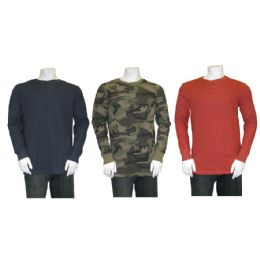 36 of L/s Mens Waffle Henley