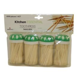 96 of 4 Pack Toothpicks 600 Count