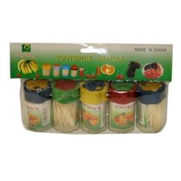 100 of 5 Piece Toothpick In Plastic Container