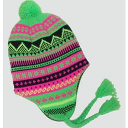 36 of Neon Ski Cap With Ear Flaps