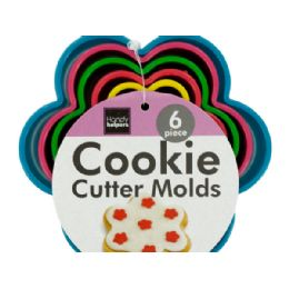 72 of Flower Shape Cookie Cutter Molds Set