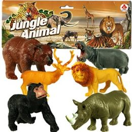 30 of 6 Piece Vinyl Jungle Animals.