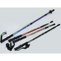 "60 of Antishock Hiking Stick Expandable From 25"" To 52"" Assorted Colors"