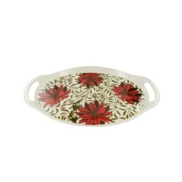 12 of Poinsettia Serving Tray Set