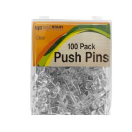 36 of Clear Push Pins