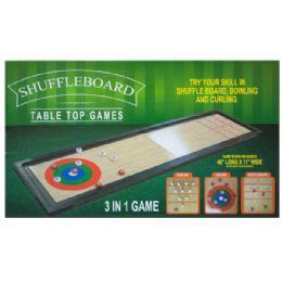 3 of 3 In 1 Shuffleboard Tabletop Game