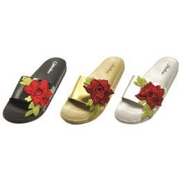 36 of Women's Flower Design Slip On Slipper