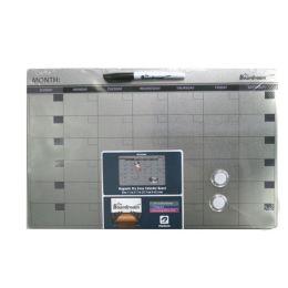 24 of Dry Erase Calendar Board Silver 11x17in