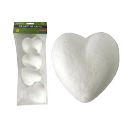 96 of Craft Foam Hearts 4pc 3.25x3""