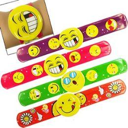 300 of Emoji Slap Bracelets.