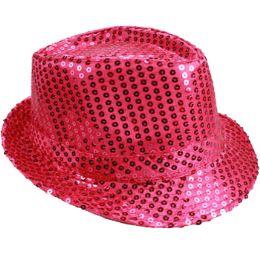 72 of Kids Pink Sequin Fedora Hat