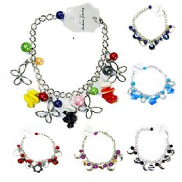144 of Colorful Fashion Bracelet Assorted Styles