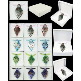 96 of Assorted Color Murano Glass Necklaces