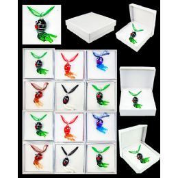 96 of Assorted Color Animal Murano Glass Necklace