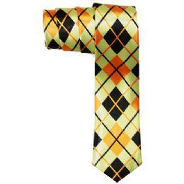 72 of Men's Slim Tie With Pattern