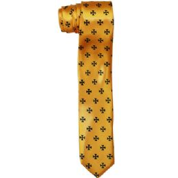 72 of Men's Slim Gold Tie With Pattern