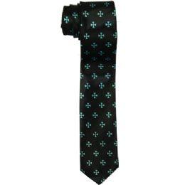 72 of Men's Slim Black Tie With Pattern
