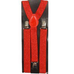 24 of Sparkly Red Suspender