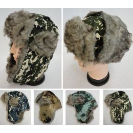 24 of Bomber Hat With Fur Lining [digital Camo]