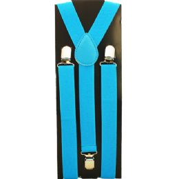 48 of Kids Solid Light Blue Suspenders