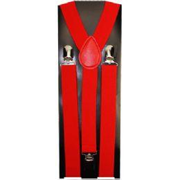 24 of Kids Solid Red Suspenders