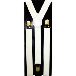 12 of Kids Solid White Suspenders