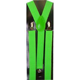 60 of Kids Lime Green Suspenders
