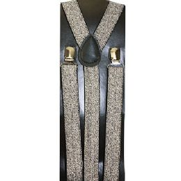 48 of Kids Sparkly Silver Suspenders