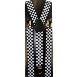 48 of Kids White And Black Checkered Suspenders