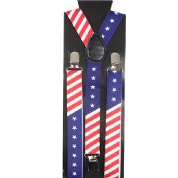48 of Kid's American Flag Suspenders