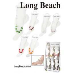 96 of Long Beach Ankle Bracelet Assorted Colors