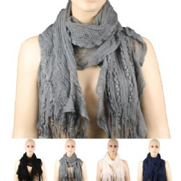 36 of Womens Fashion Scarf Assorted Colors