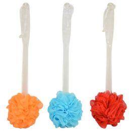 48 of Bath Pouf W/ Handle Astd. Colors