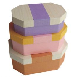 384 of Gift Box Octagon 3pcs Astd Colors