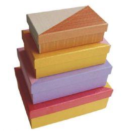 384 of Gift Box Rectangular 4pcs Ast Colors