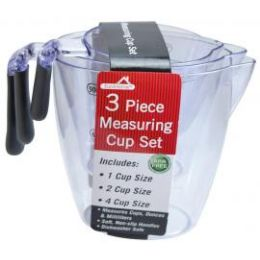 12 of 3 Piece Plastic Measuring Cup Set