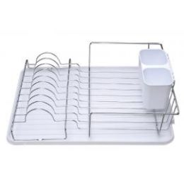 6 of Deluxe Chrome Dish Drainer White