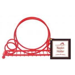 12 of Napkin Holder Red