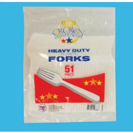 48 of 51 Ct Plastic Fork Cutlery
