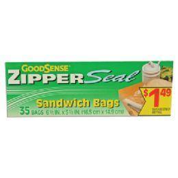 48 of 35 Count Good Sense Sandwich Bag