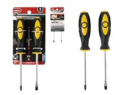 """96 of Screwdrivers 2pc 4"""" L Yellow+black Color"""