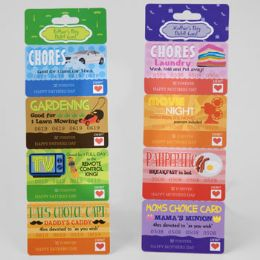 48 of Debit/coupon Card Mother/fathers Day 2ast W/4 Detachable Coupons W/perforated Header