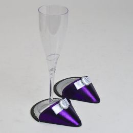 60 of Party Shoes Coasters 1 Pair Purple Party Shoe