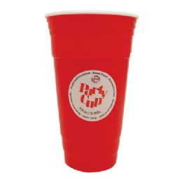 36 of Plastic Cup 32 Oz Double Wall Insulated Red Jumbo