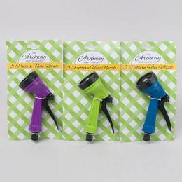 24 of Hose Nozzle/sprinkler 5 Function Green/blue/purple Garden Tiecard