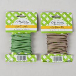 48 of Soft Twist Tie 10ft/3mm Green/ Tan 12pc Merchstrip Gardn Tcd