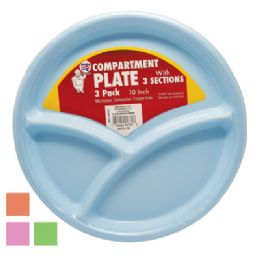 36 of Plastic 10 Inch Compartment Plate